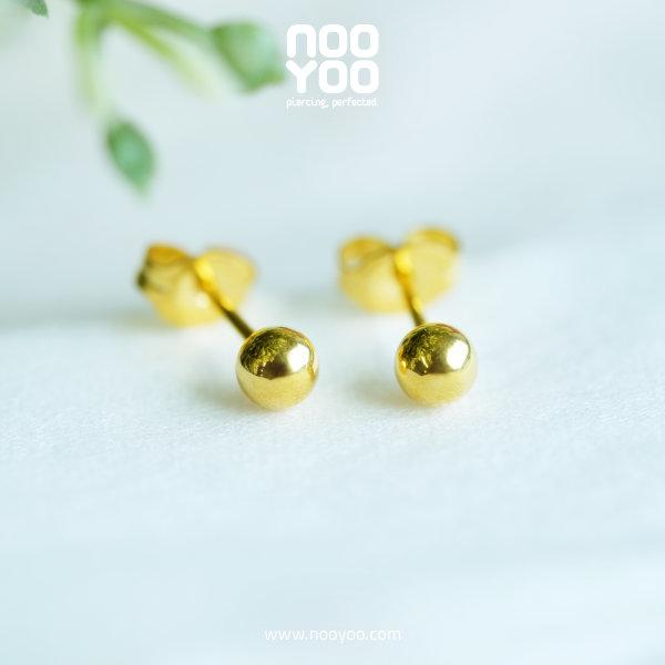 (30070) ต่างหู Ball 4mm Gold Plated