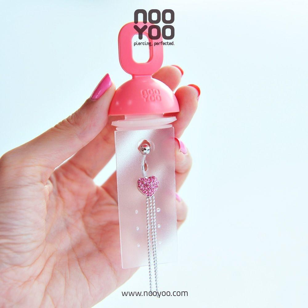 (30305) จิวสะดือ Jewel Dangle Heart/Rope Rose