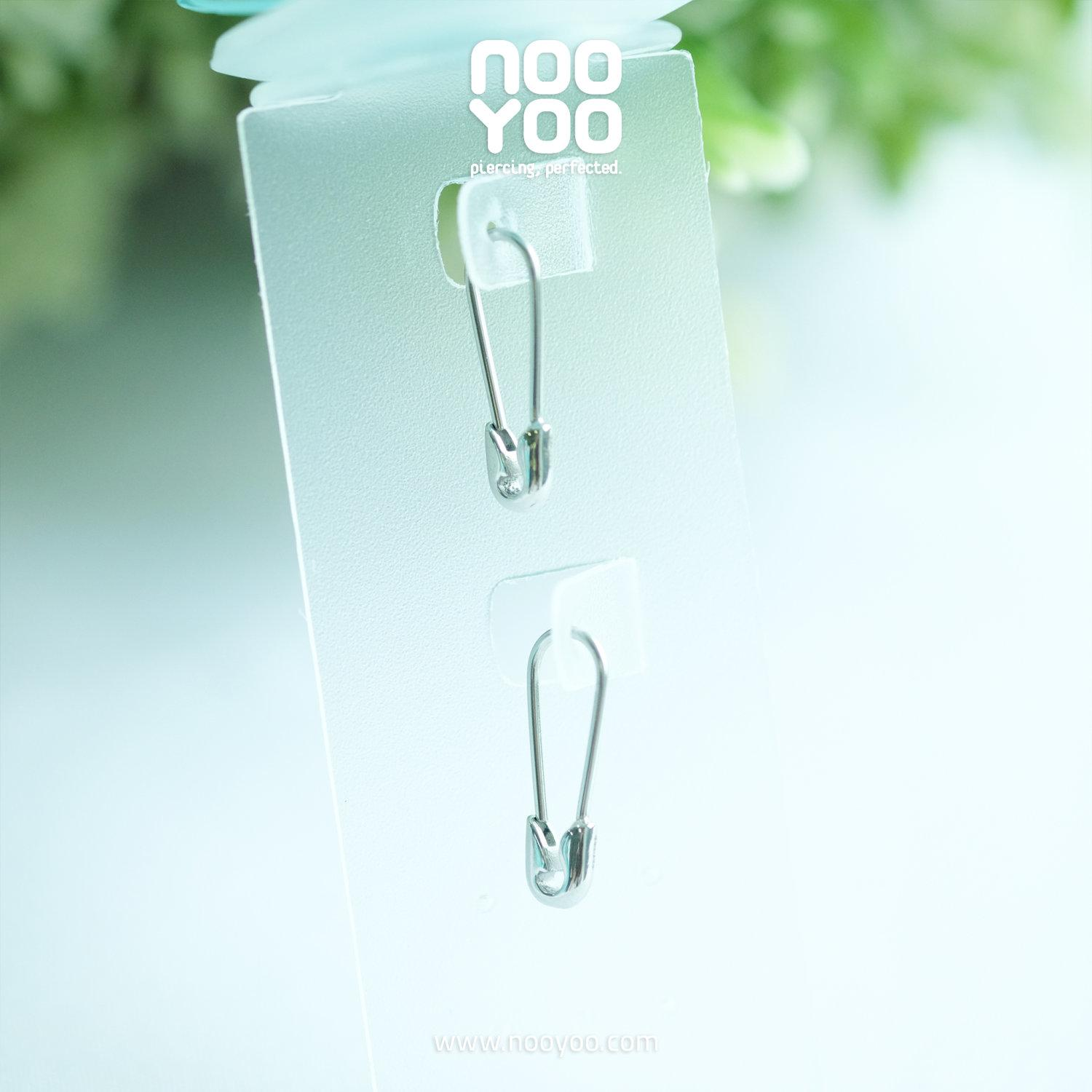 (30882) ต่างหู Mini Safety Pin Surgical Steel