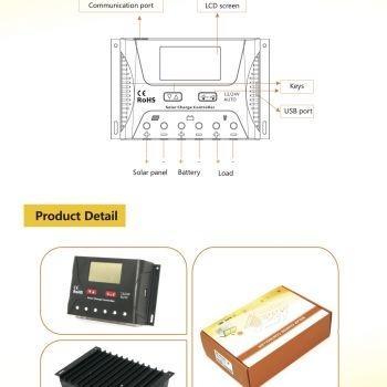 ตัวควบคุมการชาร์ท 30 แอมป์ Solar Controller Charger 30A