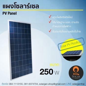 แผงโซลาร์เซลล์ 250 วัตต์ Solar PV Panal  250 W