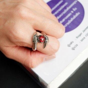 #9 แหวนสแตนเลส เล็บเม็ดนิลแดง P227