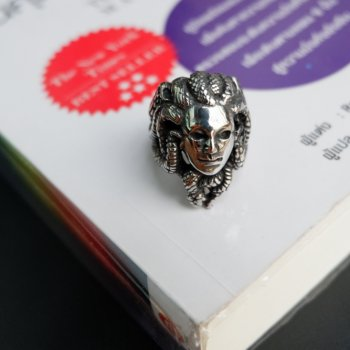 #9 แหวนสแตนเลส หัวแมดูซ่า P222