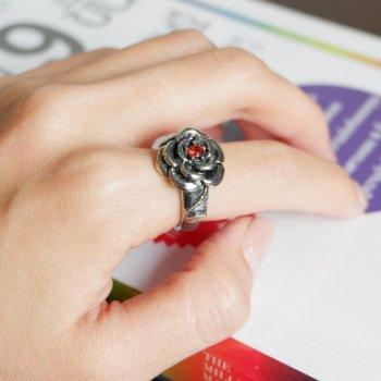 #7แหวนสแตนเลส ลายดอกไม้ P207