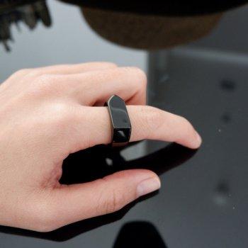 #9 แหวน สีดำ สแตนเลส P337