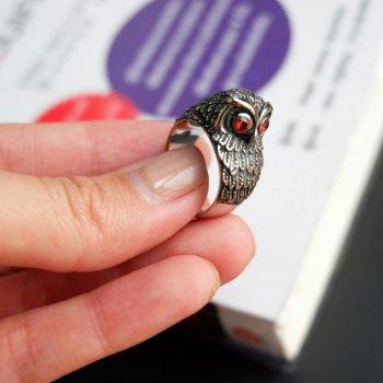 #8 แหวนสแตนเลส หัวนกฮูก P225