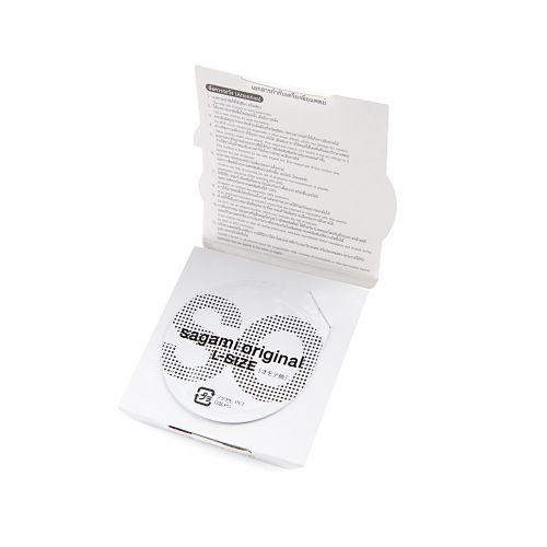 ถุงยางอนามัย Sagami Original 0.02 แพ็ค 6 ชิ้น Size L