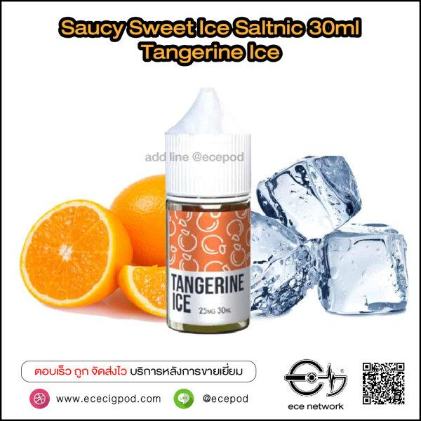 Saucy Sweet Ice - Tangerine Ice Saltnic 30ml (Nic25/45)