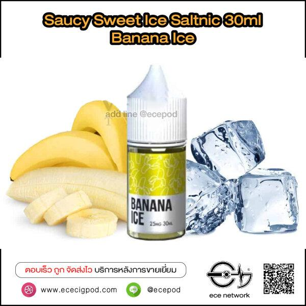 Saucy Sweet Ice - Banana Ice Saltnic 30ml (Nic25/45)