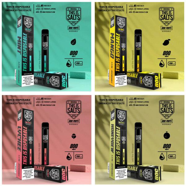 THIS IS DISPOSABLE 800 Puffs Pod kit