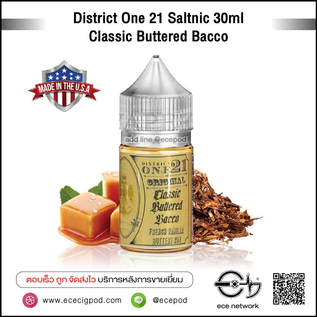 District One 21 Saltnic 30ml - Classic Buttered Bacco N30/50