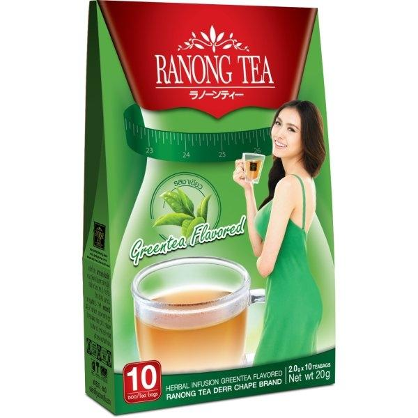 RANONG TEA DERR CHAPE GREEN TEA FLAVORED 10 ซอง