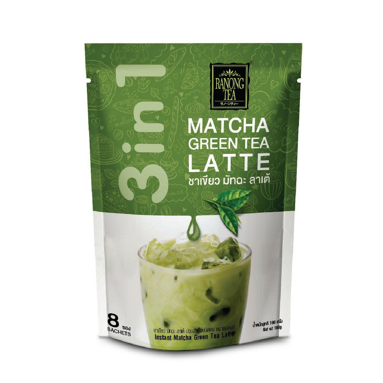 ชาเขียว มัชฉะ ลาเต้ เรนองที MATCHA  GREEN TEA LATTE RANONG TEA