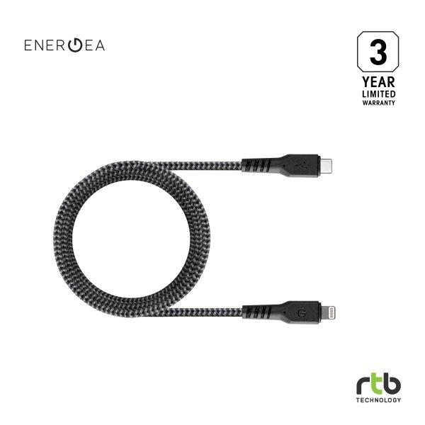 Energea สายชาร์จ Cable FibraTough USB-C To Lightning MFi 1.5M - Black