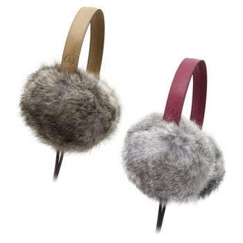 Audio Technica ATH FW55 หูฟังเพลง Natural Fur Earmuffs