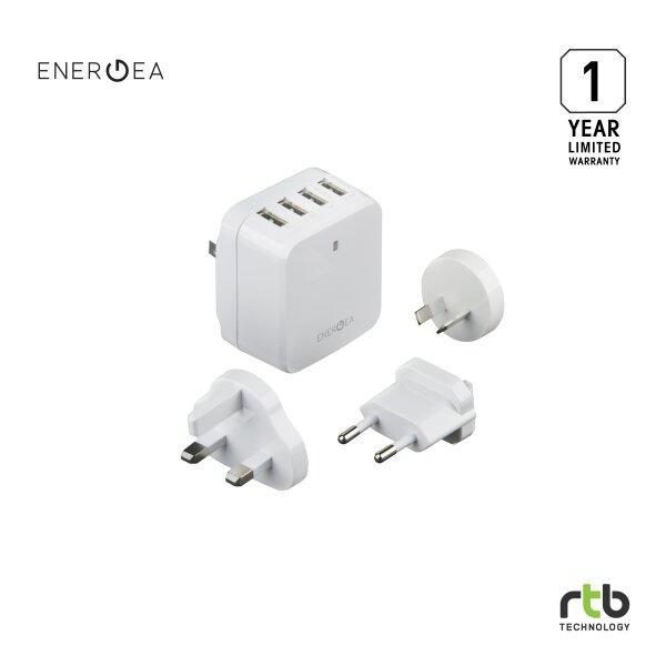 Energea ที่ชาร์จพกพาเปลี่ยนหัว Wall Charger Travel World 6.8A 4 USB - White
