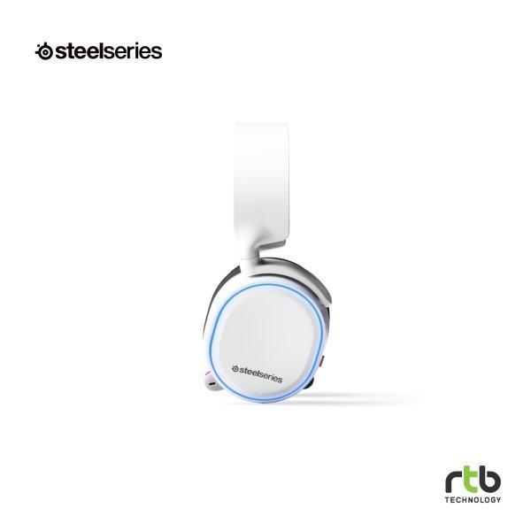 SteelSeries หูฟังเกมมิ่ง 7.1 DTS รุ่น Arctis 5 RGB - White (2019 Edition)