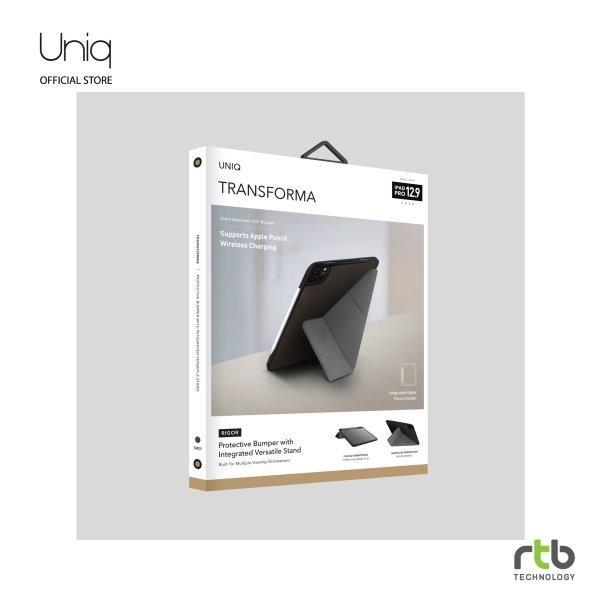 Uniq เคส iPad Pro 12.9 (2020) รุ่น Transforma Rigor Pro - Charcoal