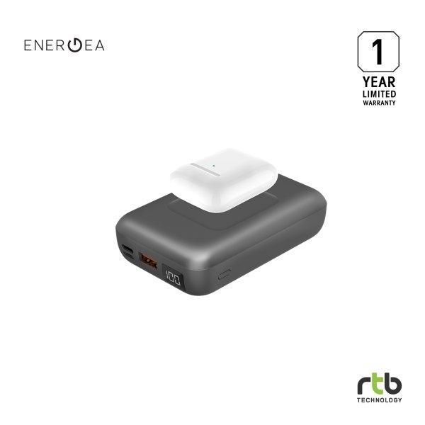 ENERGEA Power Bank รุ่น Compac Wireless PD 18W 10000MAH - Gunmetal