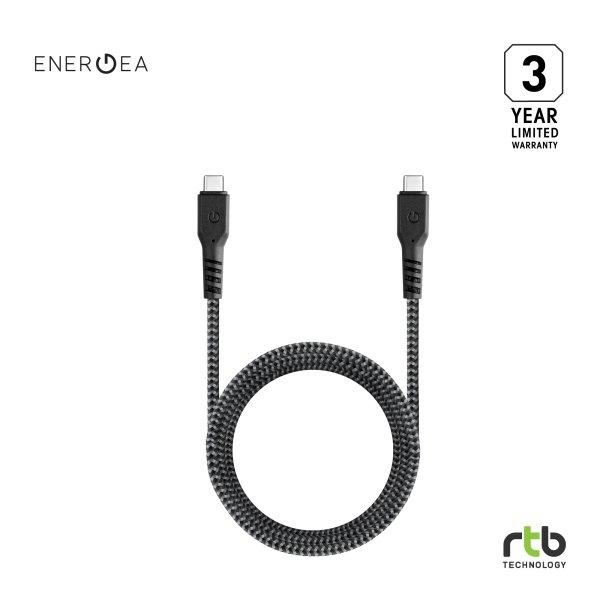 Energea สายชาร์จ Cable FibraTough 3.1 Gen 2 USB-C to USB-C 1M - Black