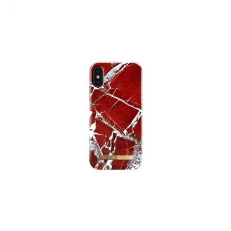 iDeal of Sweden Fashion Case S/S 18 iPhone X - Scarlet Red Marble