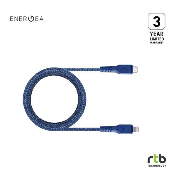 Energea สายชาร์จ Cable FibraTough USB-C To Lightning MFi 1.5M - Blue