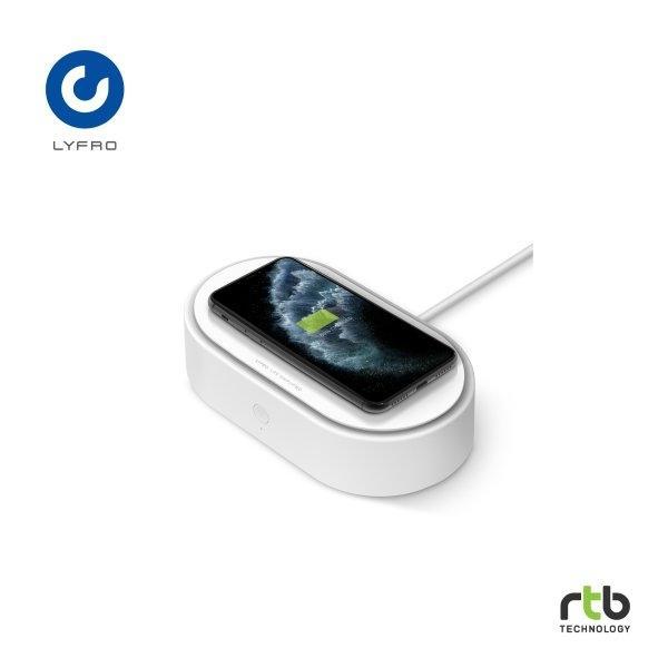 Lyfro กล่องฆ่าเชื้อพร้อมแท่นชาร์จไร้สาย UV Box with wireless charger รุ่น Air Capsule