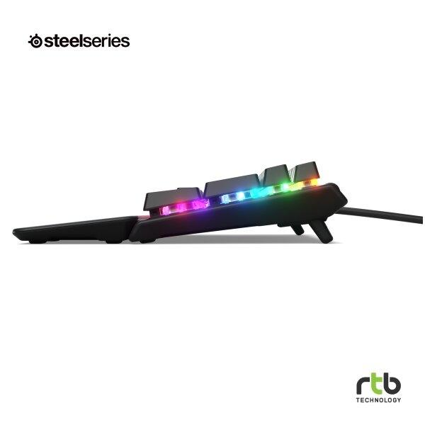 SteelSeries คีย์บอร์ดเกมมิ่ง RGB รุ่น Apex 5 (Hybrid Blue Switch)