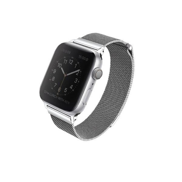 Uniq สาย Apple Watch Stainless steel 44mm รุ่น Dante - Silver