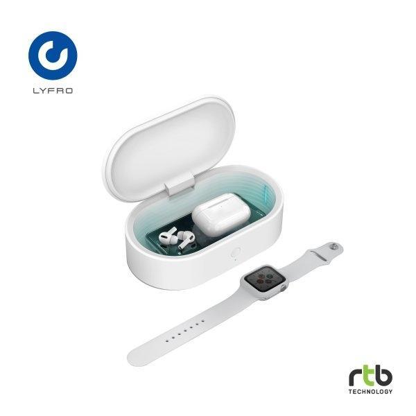 Lyfro กล่องฆ่าเชื้อพร้อมแท่นชาร์จไร้สาย UV Box with wireless charger รุ่น Capsule