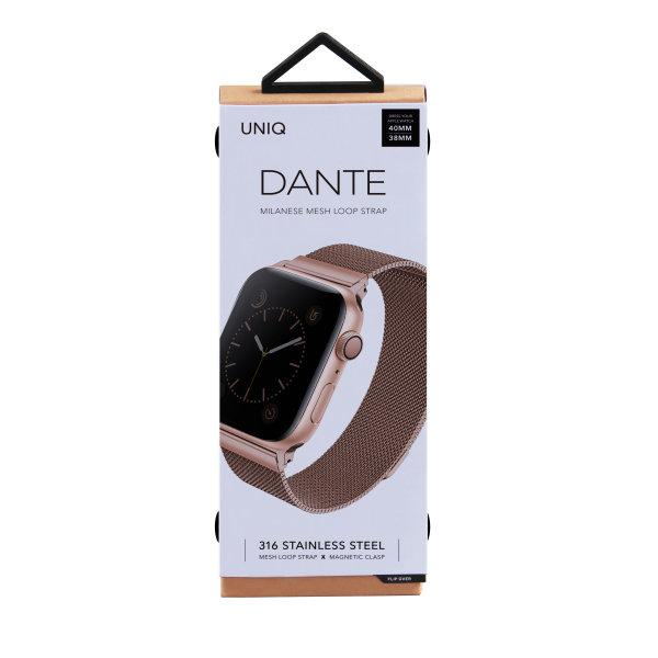 Uniq สาย Apple Watch Stainless steel 40mm รุ่น Dante - Rose Gold