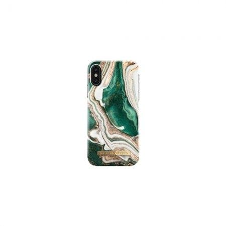 iDeal of Sweden Fashion Case A/W 18 iPhone XS / iPhone X - Golden Jade Marble