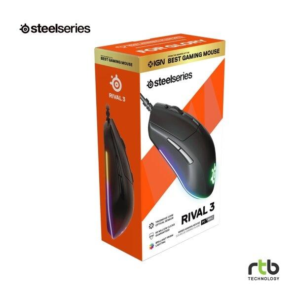 SteelSeries เมาส์เกมมิ่ง รุ่น RIVAL 3 Wired Gaming Mouse