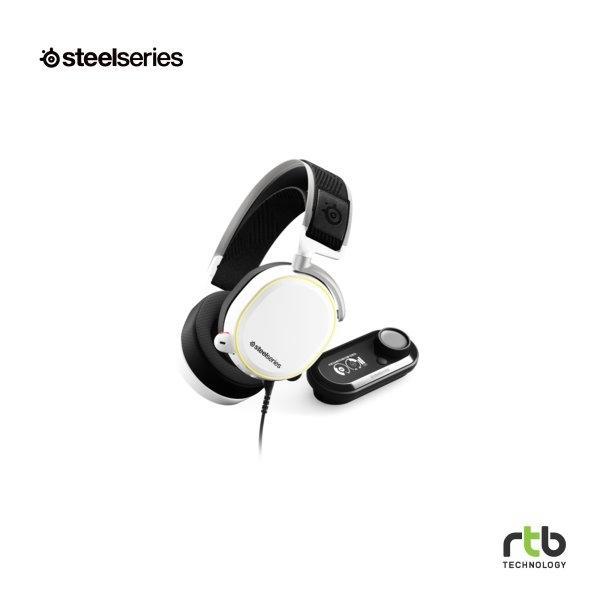 SteelSeries หูฟังเกมมิ่ง 7.1 DTS รุ่น Arctis Pro + GameDac RGB - White