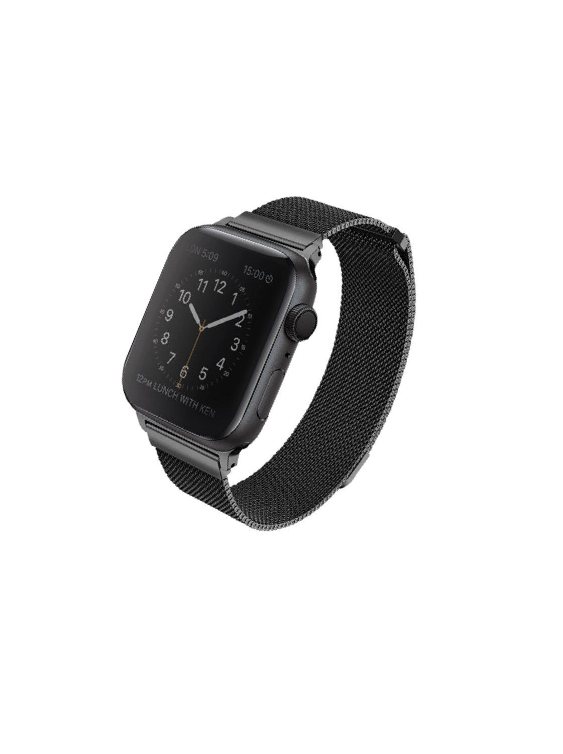 Uniq สาย Apple Watch Stainless steel 44mm รุ่น Dante - Black
