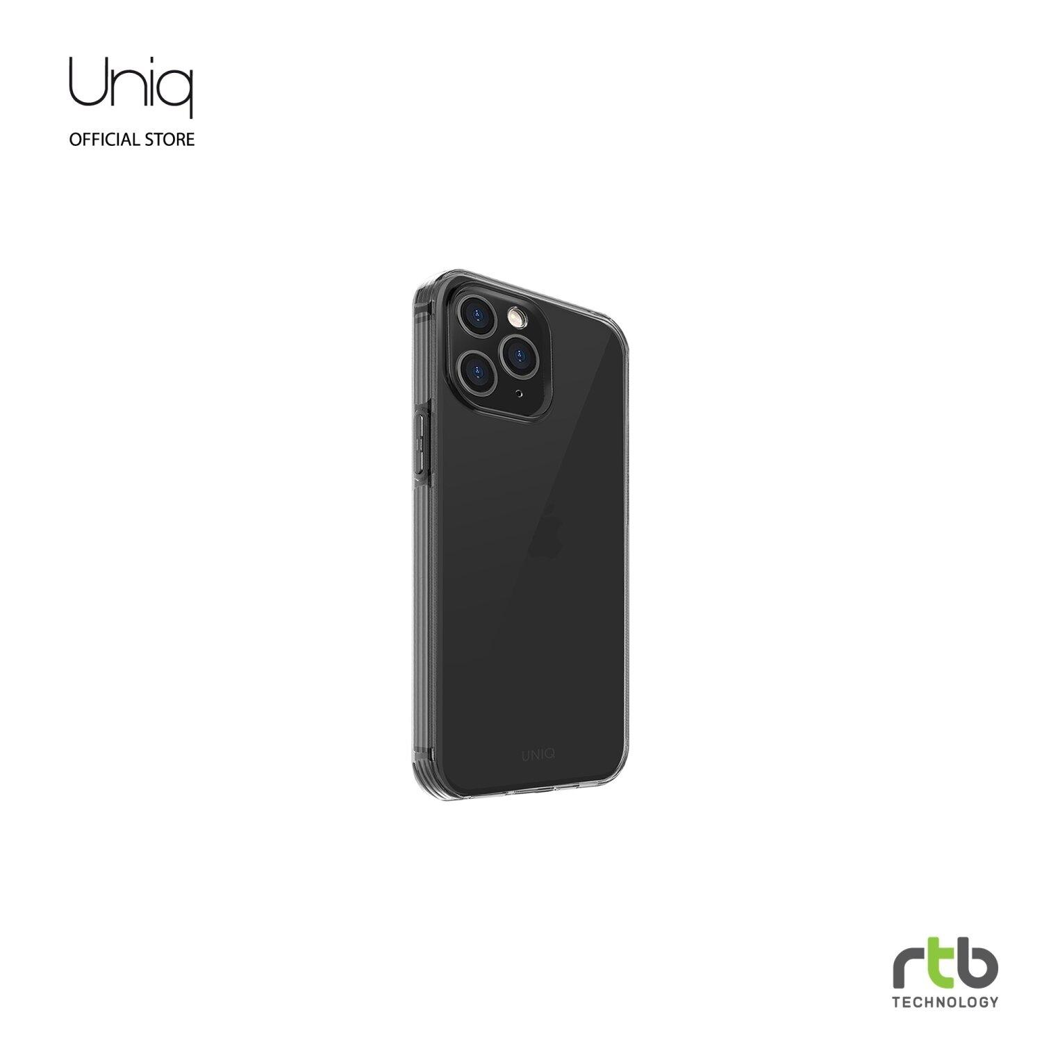 Uniq Hybrid เคส iPhone 12 PRO MAX(6.7) Anti Microbial รุ่น Air Fender - Smoke Grey