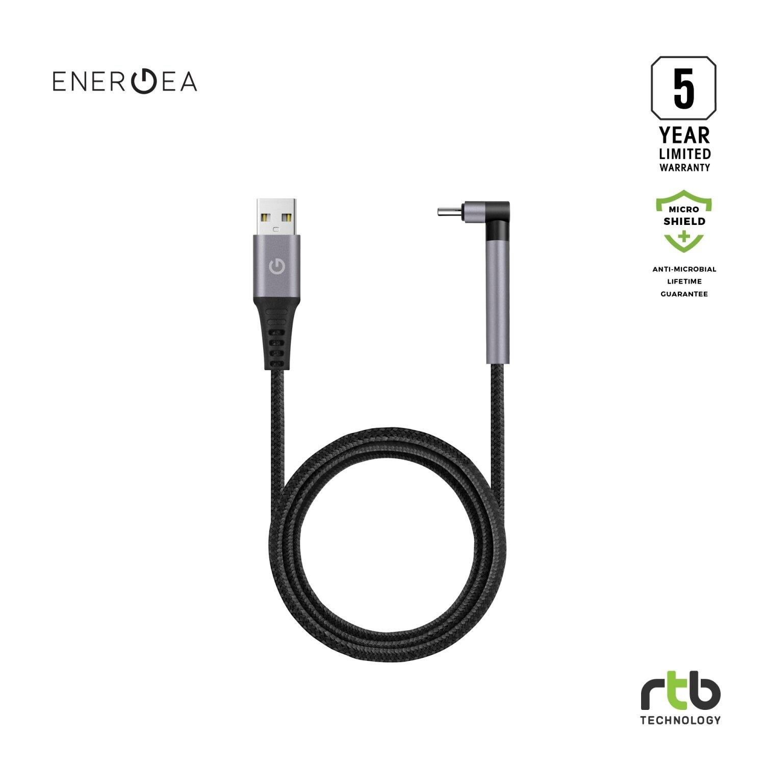 ENERGEA CABLE ALUTOUGH ANTI-MICROBIAL USB-A TO MFI 1.5M GUN