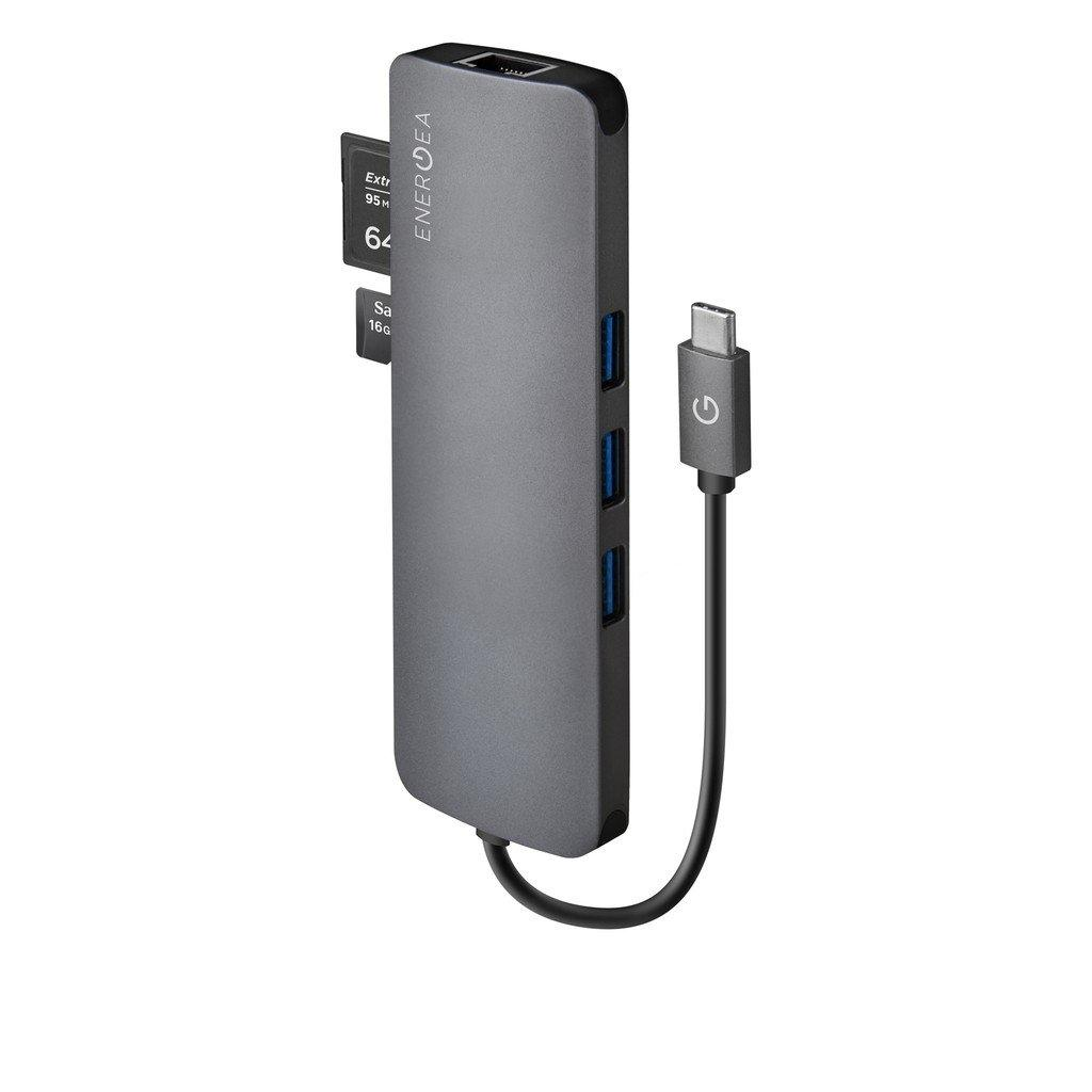 Energea AluHub C Charger Aluminium 3.1 USB-C All-in-1 Hub
