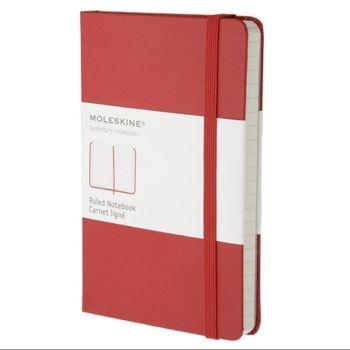 Moleskine Notebook Pkt Ruled Red Hard Cover Mm710R