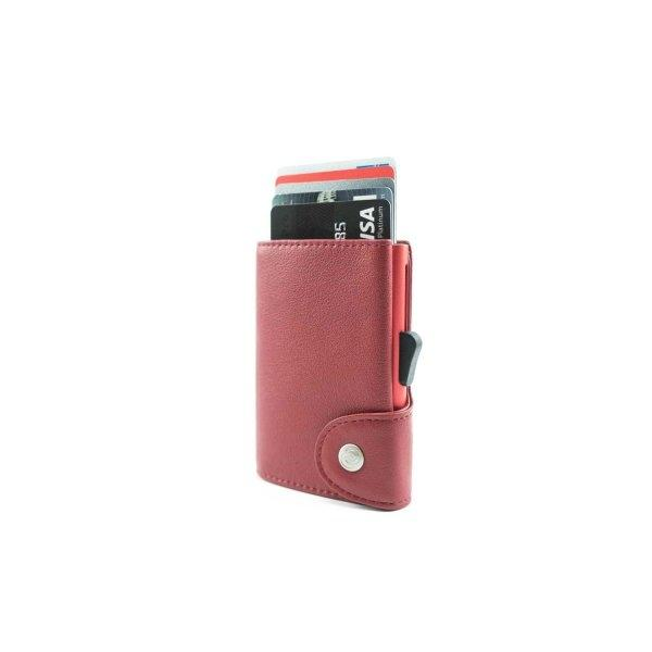 C-SECURE RFID Classic Leather Wallet Ciliegia/ Coral Red Card holder