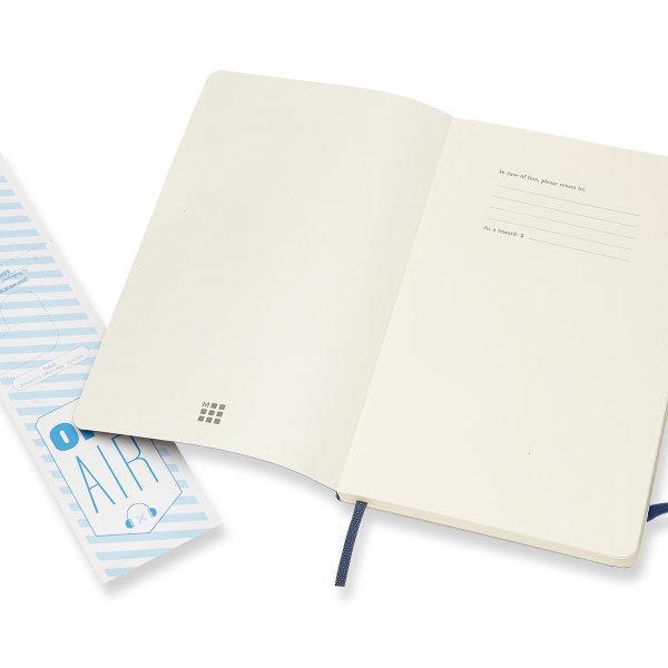 Moleskine สมุดบันทึก ปกอ่อน สีน้ำเงิน ขนาดใหญ่ 13x21 ซม MOLESKINE NOTEBOOK LARGE SOFT COVER SAP.BLUE 13x21 CM