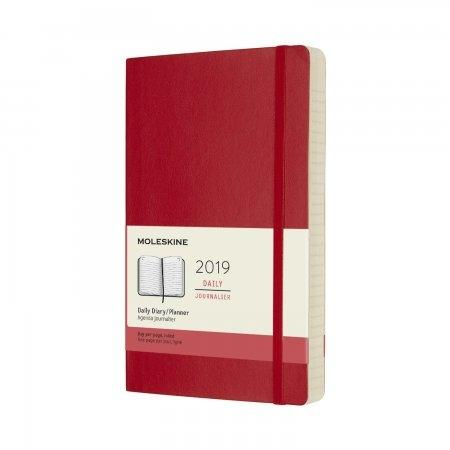 2019 12M DAILY POCKET SCARLET RED SOFT COVER