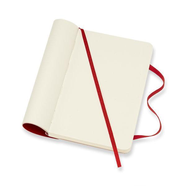 Moleskine สมุดบันทึก ปกอ่อน สีแดง ขนาดเล็ก 9x14 ซม MOLESKINE NOTEBOOK POCKET SOFT COVER S.RED 9X14 CM
