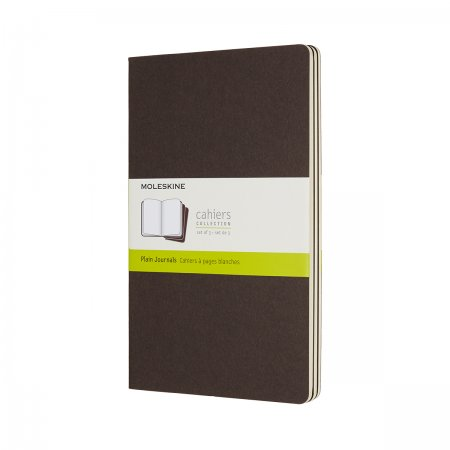 MOLESKINE CAHIER JOURNALS LARGE PLAIN COFFEE BROWN CH018P2