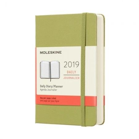 2019 12M DAILY POCKET LICHEN GREEN HARD COVER