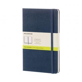 QP062B20 NOTEBOOK LARGE PLAIN SAPPHIRE BLUE HARD COVER