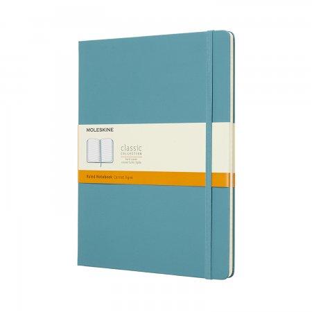 MOLESKINE NOTEBOOK XL RULED HARD COVER REEF BLUE QP090B35