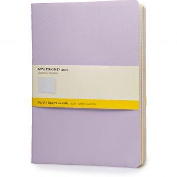 Moleskine Cahier Journals Xl Squared Tris Pastelcha22Vf