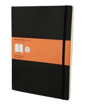 Moleskine Notebook Xl Ruled Black Soft Cover Qp621