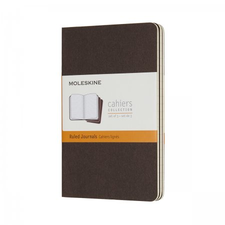 MOLESKINE CAHIER JOURNALS POCKET RULED COFFEE BROWN CH011P2